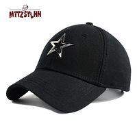 MTTZSYLHH hat male couple baseball cap outdoor sports tennis five pointed star cap adjustable running cap