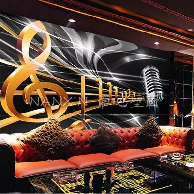 Can customized large 3d art mural wallpaper fashion music KTV,bar,coffee wall stickers setting home decor bedroom sitting room fashion letters and zebra pattern removeable wall stickers for bedroom decor