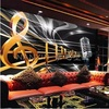 Can Customized Large 3d Art Mural Wallpaper Fashion Music KTV Bar Coffee Wall Of Setting Home