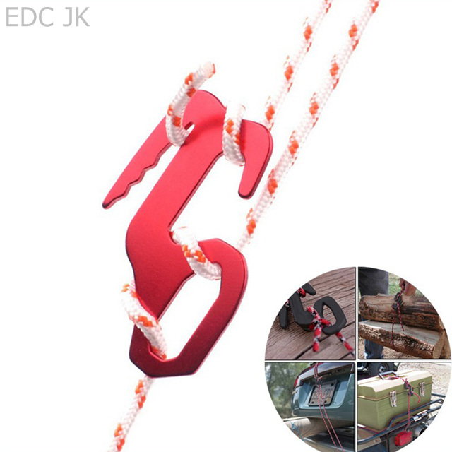 9 Shape Rope Buckle Outdoor Camping Multi-functional Aluminum Alloy Adjustable Tent Wind Buckles Shelter Rope Adjust Hanging
