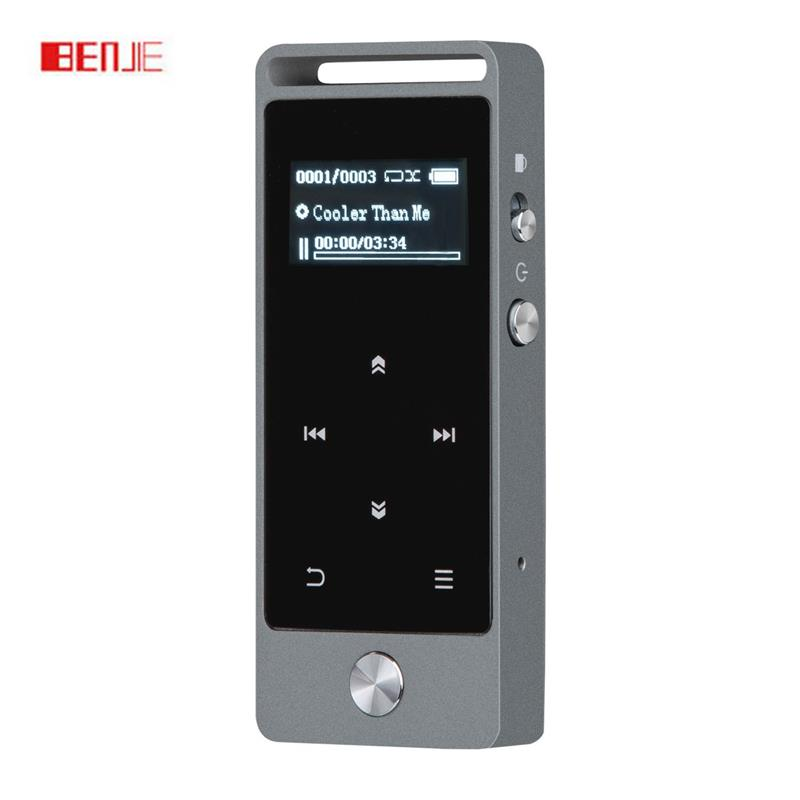 MP3 Player Touch Screen Metal Music Player 8GB Original BENJIE S5 High Quality Lossless Sound with FM Radio/Voice Recorder
