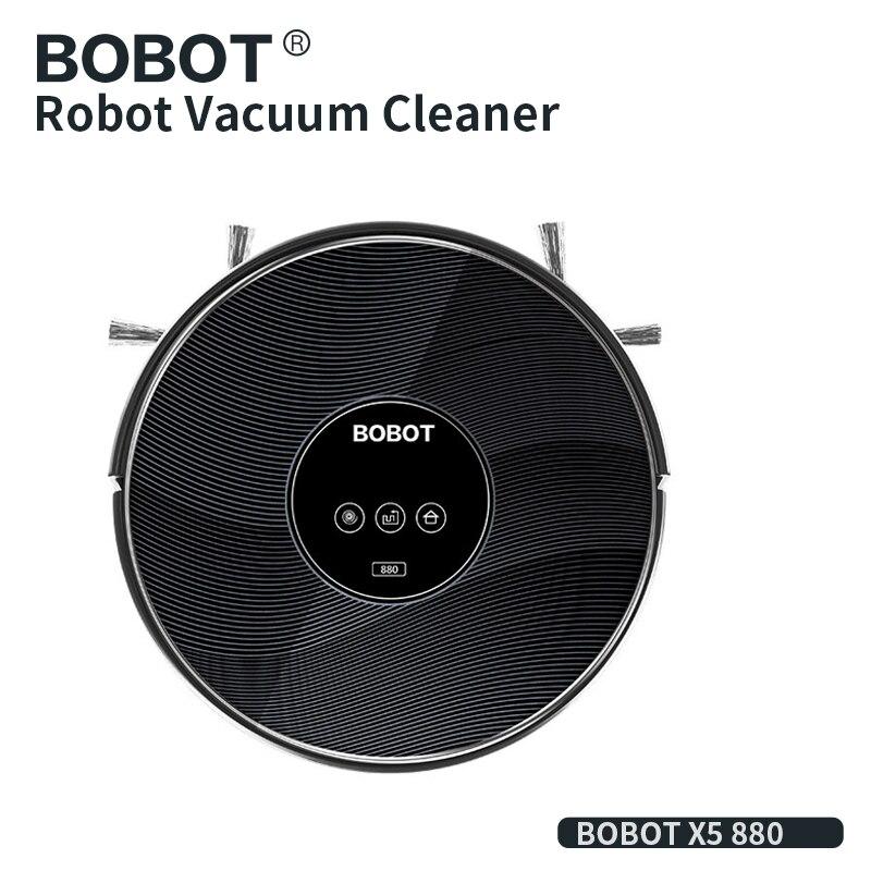 BOBOT X5 Robot Vacuum Cleaner para Casa Poeira Google APP Controle de Casa Inteligente Automático Varrendo Planejado Chão Varrendo