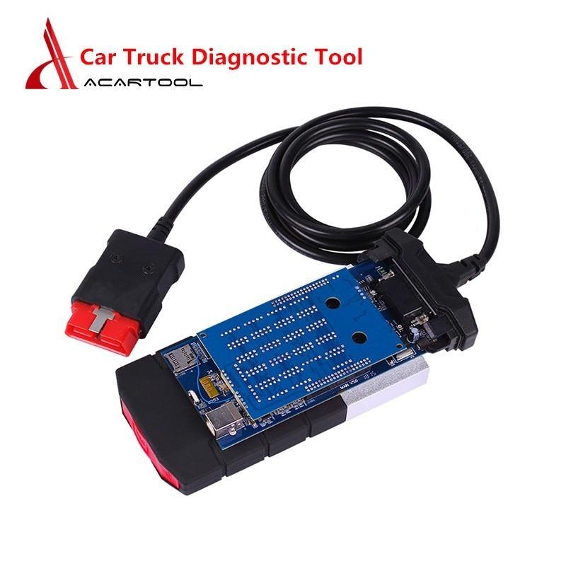 Universal Car Truck Diagnostic Tool OBD2 Car Scanner NEC Relays Multi-language Code Reader Scan Tool Green/Blue PCB(China)