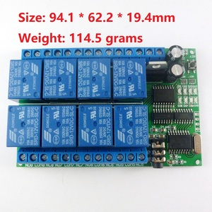 Image 2 - 1 PCS  8ch 12VDC DTMF Relay MT8870 Decoder Phone Remote Control switch for AC DC Motor LED CNC Smart Home PLC