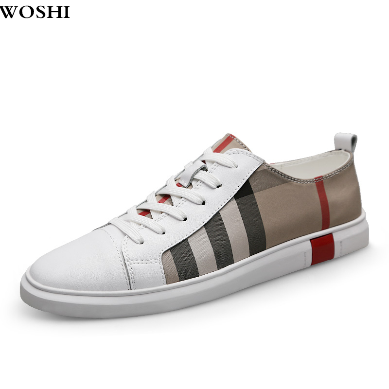 Summer Men shoes Breathable Skateboard Shoes Men Fashion lace up Sneakers outdoor Trainers Casual Genuine   Leather   Shoes L5