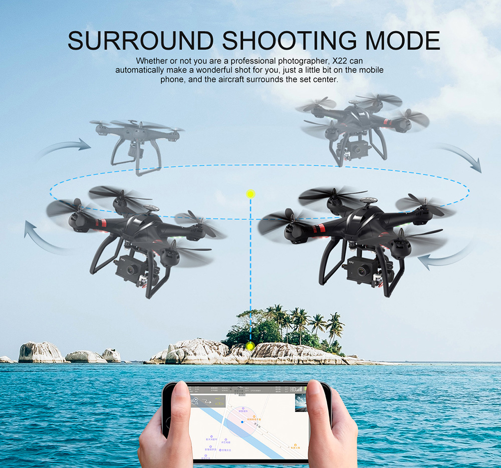 BAYANGTOYS X22 RC Quadcopter Drones Dual GPS WiFi FPV Brushless Follow Me Helicopters Racing Remote Control RC Drone Dron Toys 7