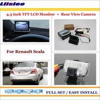 """Dla Renault Scala Car 4.3 """"kolorowy wyświetlacz lcd Monitor i Auto tylna kamera cofania 2 w 1 system parkowania z tyłu w Monitory samochodowe od Samochody i motocykle na"""