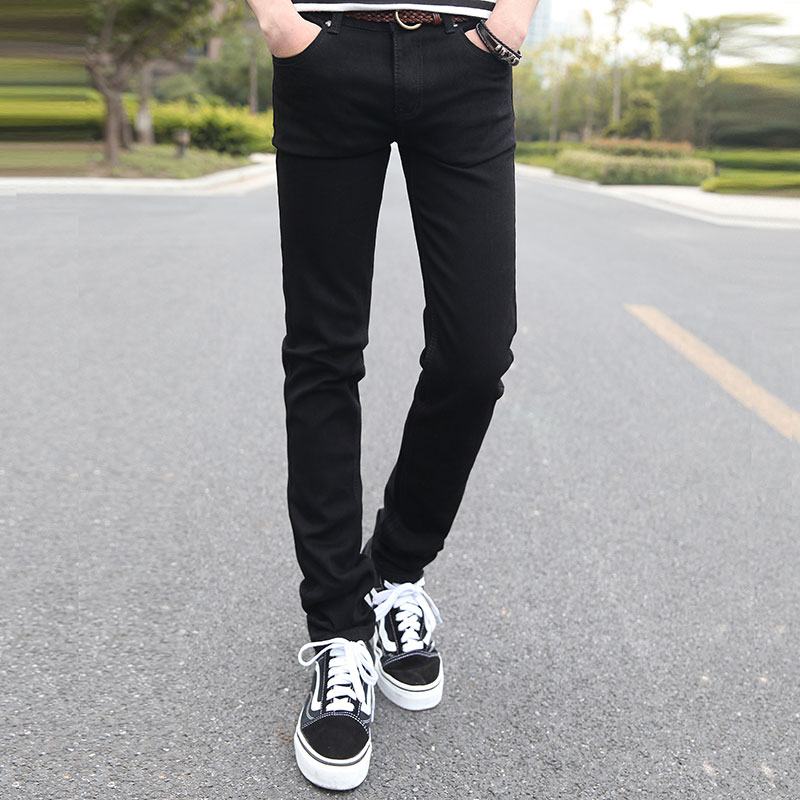 Cotton Blue Mens Jeans 28 29 30 31 32 33 34 36 Pure Color Fashion Casual Black Man Trousers Popular Comfortable Best Choice