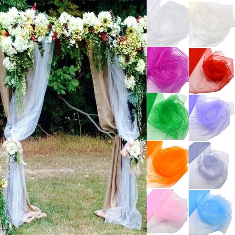 Diy Wedding Arch With Tulle: 48cm*10 Meters Cryatal Organza Tulle Fabric Yarn DIY