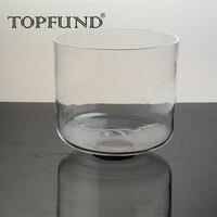 TOPFUND G Note ГОРЛОВАЯ ЧАКРА прозрачная кварцевая Поющая чаша 9 , уплотнительное кольцо и молоток в комплекте, для медитационная Йога практики