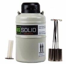 U.S. Solid 3 L жидкий азот, контейнер для спермы, криогенный LN2 резервуар, Дьюар с ремешками, 6 контейнеров, 25 дней