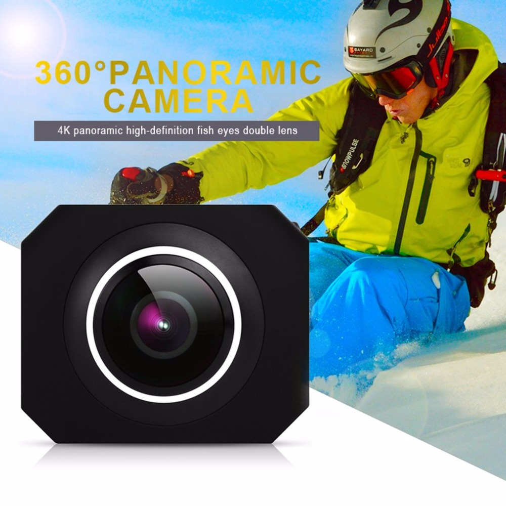4K HD 360 Panoramic Camera VR Mini Handheld Unique Dual Lens Sport Camera WiFi Video Action Sports Camera PANO360 magicsee 3k hd mini 360 camera live panoramic camera portable pocket vr camera dual lens camera 360 for type c micro usb phones