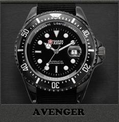ฉลามกองทัพนาฬิกาผู้ชายยี่ห้อไนล่อนสี 9