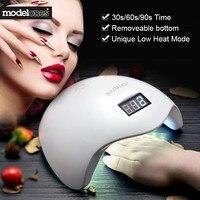 Modelones SUN5 48W UV Lamp Nail Gel Dryer Nail Art Cure Led Lamp For Nails Machine