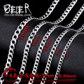 Beier stainless steel necklace new twist 4.5mm/5mm/5.5mm/6mm/7mm trendy chain necklace boy man necklace  BN1025