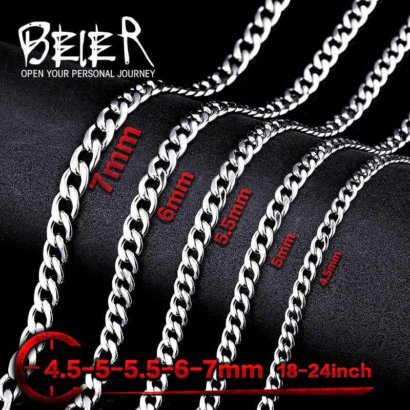 Beier stal nierdzewna klasyczny punk water wave naszyjnik łańcuch złoty naszyjnik męski dziki hurtownia wysokiej jakości biżuteria BN1025