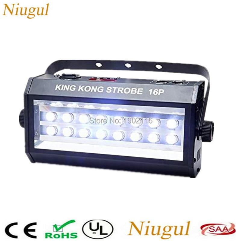 Niugul High Power Super Bright DMX Voice Control 16 LED Stroboscope 400W Strobe Lamp Party Disco