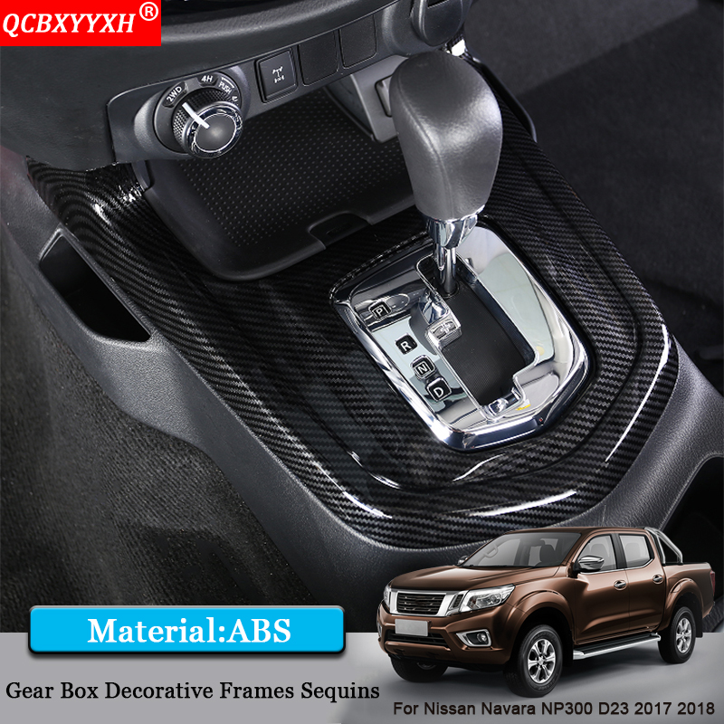 QCBXYYXH Car Styling Car Interior Gear Box Decorative Frames Sequins Sticker Accessories For Nissan Navara NP300