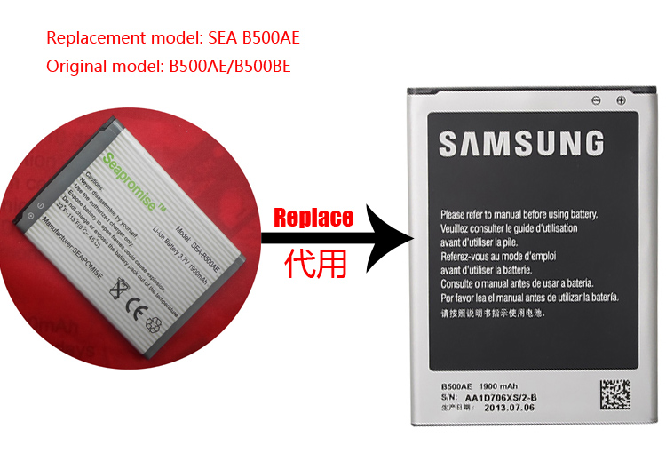 Freeshipping einzelhandel batterie B500AE B500BU für Galaxy S4 Mini I9190 I9192 I9195 I9197X I9197Z i9198 SGH-I257 SHV-E370 SPH-L520