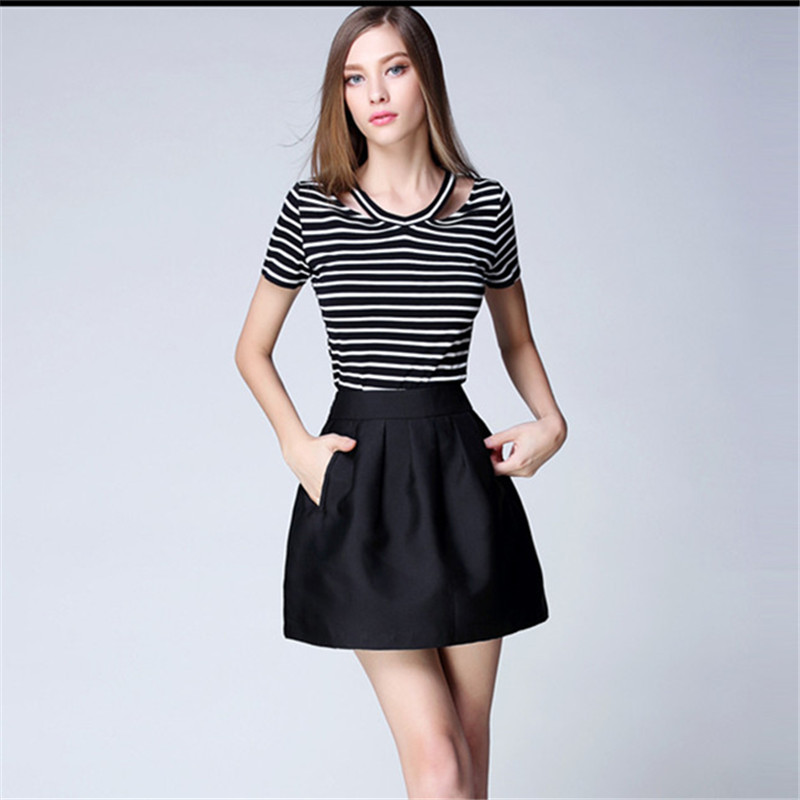 Popular Black Satin Pleated Mini Skirt-Buy Cheap Black Satin ...