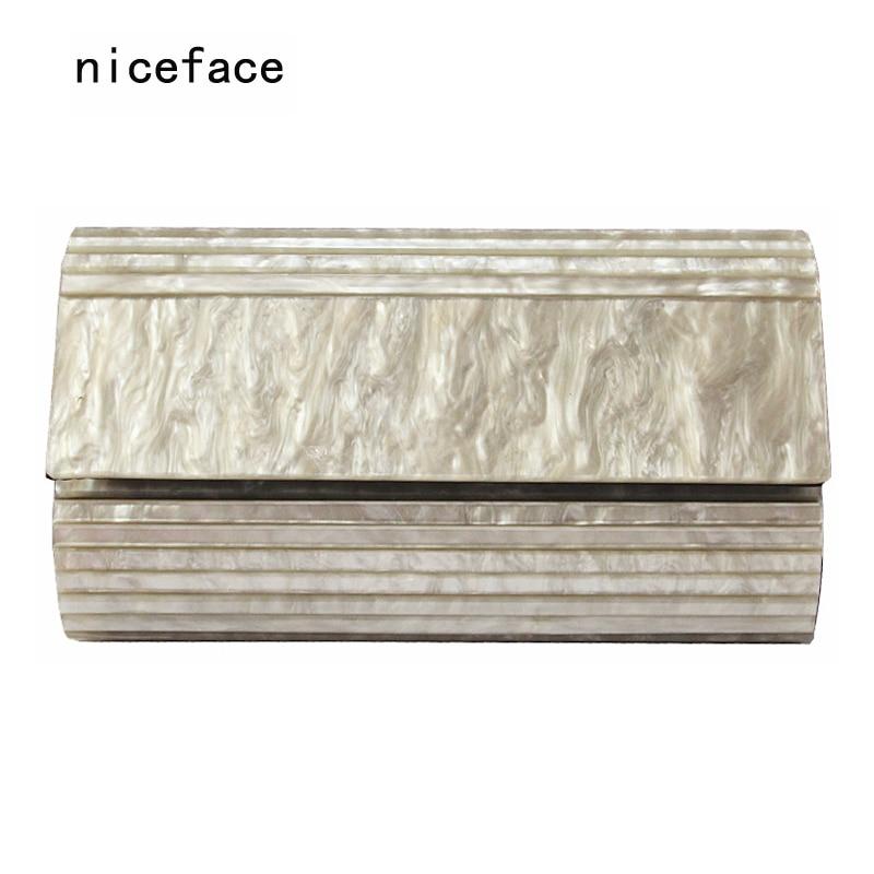 2017 Women evening bags designer brand fashion Marble pearl acrylic shoulder bag lady wallet party solid handbag Casual Clutch