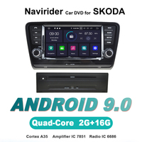touch screen OTOJETA Android 9.0 car dvd player FOR SKODA OCTAVIA 2014 stereo navigation car accessories gps Multimedia radio