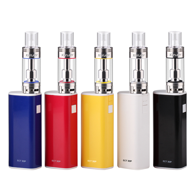 Ect et 30 p caja de cigarrillos e mod starter kit et 30 p 2.5 ml vot mini Tanque vape 0.3 0.5ohm 2200 cigarrillo electrónico mod et30p