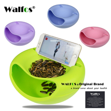 WALFOS Dried fruit plate storage box Snacks Nut fruit dish tray organizer melon seeds candy storage bowl box food container
