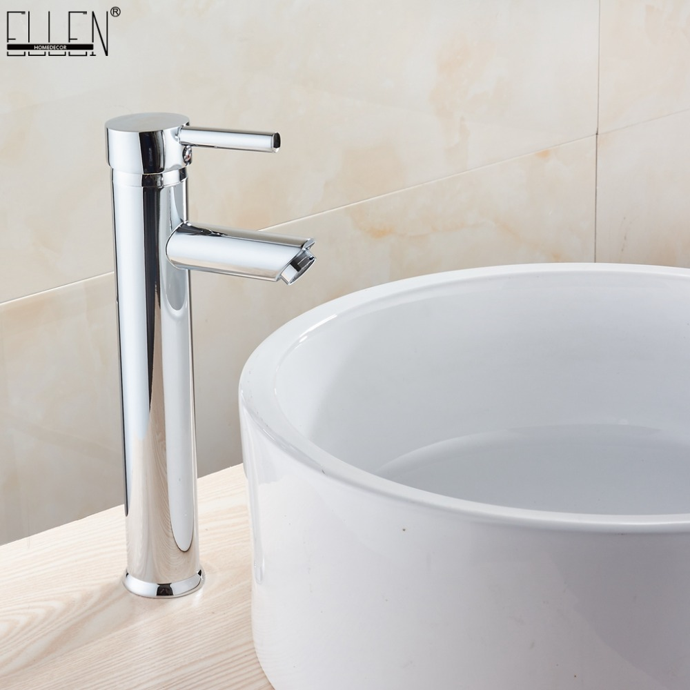Bathroom Basin Sink Tall Waterfall Spout Mixer Tap Faucet Chrome Finished