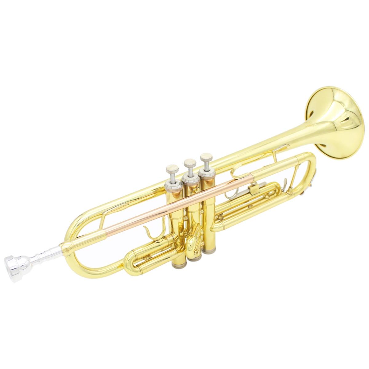 Профессиональные латунные Музыкальные инструменты труба с сумкой латунная Золотая труба цифровая Механическая сварочная труба музыка принимает - 5
