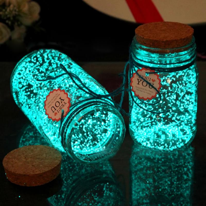 1 Bag Colorful Fluorescent Super Luminous Particles Glow Pigment Bright Glow Sand Glow In The Dark Sand Kids DIY Toys