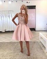 Коктейльные платья розовый плюс Размеры короткое вечернее платье для выпускного вечера 2019