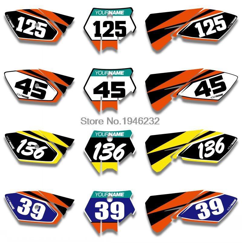For KTM SX85 SX 85 2003 2004 2005 Custom Number Plate Backgrounds Graphics Sticker & Decals Kit авита ру продать камаз зерновоз 2003 2005 года