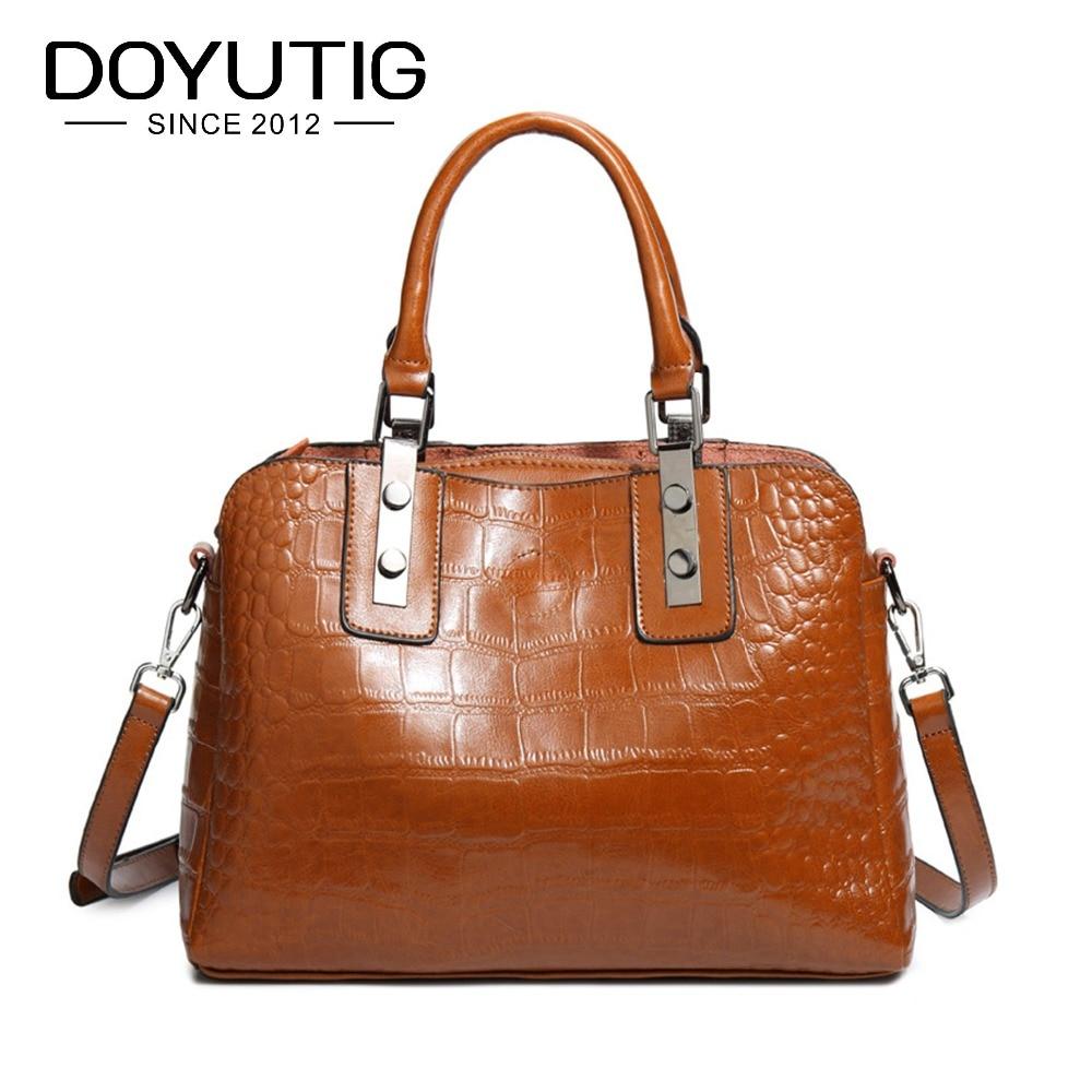 Fashion Genuine Leather Women Bag Ladies European Style Handbags Spring Casual Tote Bag Big Shoulder Bags For Woman F520