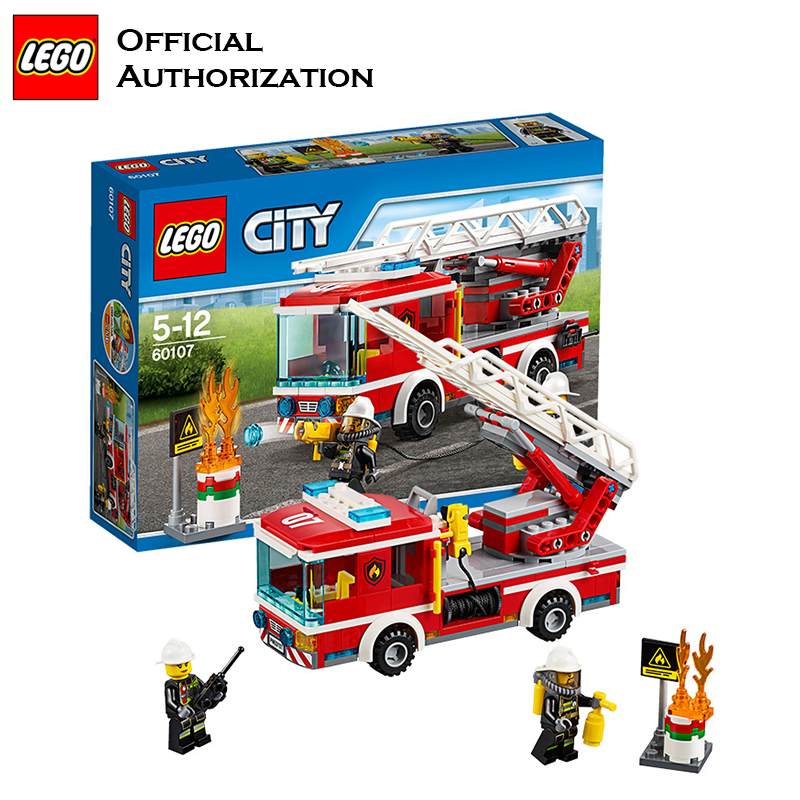 Genuine Building Blocks Fireman Toy City Series Compatible Building Funny Creative lego Blocks Fire Control Gift Toy 2017 new building blocks car toy juniors series compatible lego building educational easy to build blocks lego gift toy