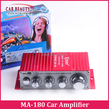 Mini 2ch DC 12V HI-FI Digital USB Stereo Audio Power Amplifier Speaker for Car Motorcycle Boat Kinter MA-180