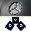 Auto Accessories Car Steering Wheel Logo Sticker Diamond Decoration For Mercedes Benz 3 Colors with Gift Box