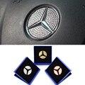Cobertura de Volante Auto Acessórios Do Carro Etiqueta Do Logotipo do Diamante Decoração Para Mercedes Benz 3 Cores com Caixa de Presente