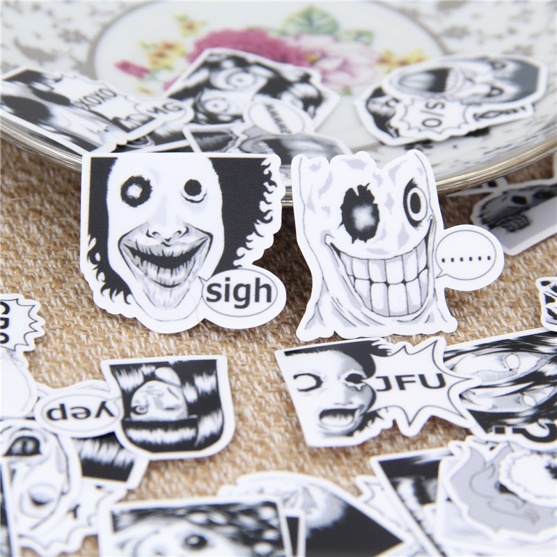 40 Pcs Scary Ghosts Stickers For Phone Waterproof Scrapbooking/ DIY Crafts/ Card Making Sticker Decoration