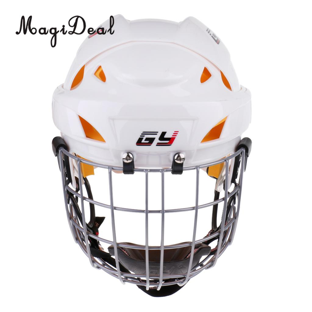 MagiDeal Ice Hockey Helmet Soft EVA Liner with Cage for Player Hockey Face Shield XS/S/M/L/XL 2016 hot sale ice hockey helmet for player black full face mask