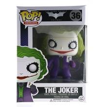 New Hot  Funko Pop Super Heroes The Dark Knight The Joker Original Box  Vinyl Figure Model Action Figurine Doll  Christmas Gift