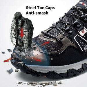 Image 2 - גברים פלדת בניית הבוהן לעבוד נעליים לנקב הוכחה לנשימה נעלי בטיחות עם פלדת כובע הבוהן