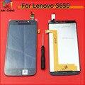 Para lenovo s650 negro/blanco de pantalla táctil digitalizador Sensor Panel de Lente de Cristal + Pantalla LCD Monitor de Pantalla asamblea