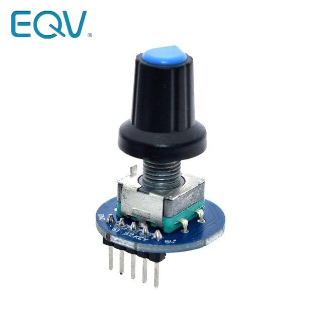 Rotary Encoder Module for Arduino Brick Sensor Development Round Audio Rotating Potentiometer Knob Cap EC11