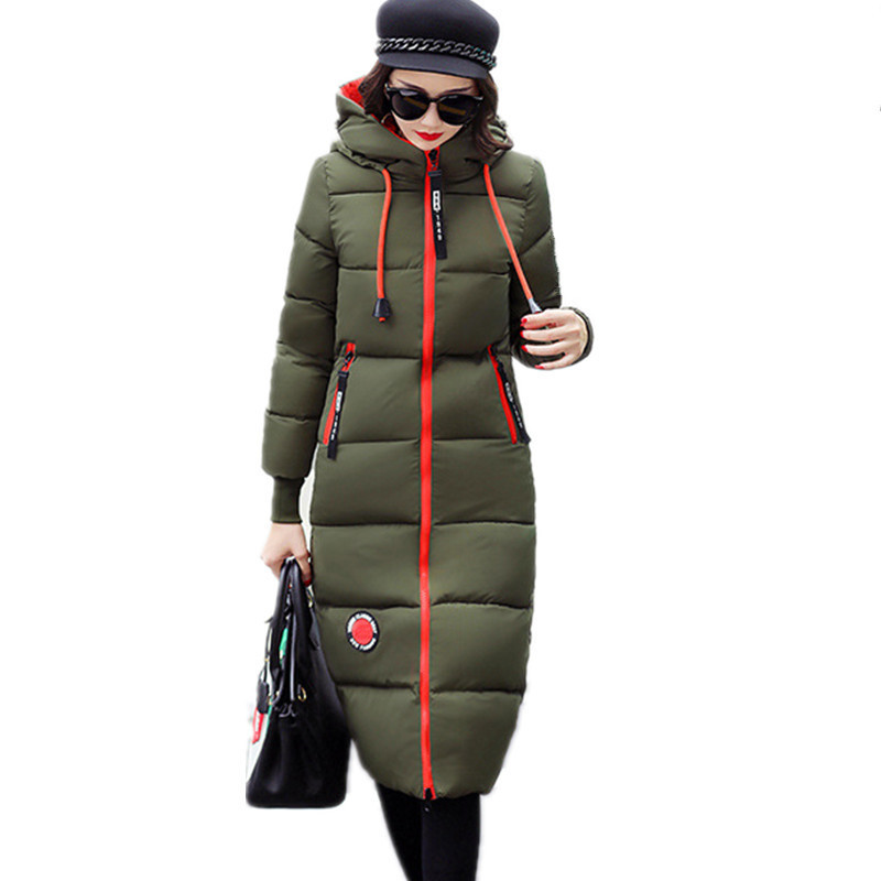 Winter Thickening Long Warm Hooded Military Parkas High Quality Cotton Padded Large Size Jacket Women Outerwear Parka TT3128 children winter coats jacket baby boys warm outerwear thickening outdoors kids snow proof coat parkas cotton padded clothes