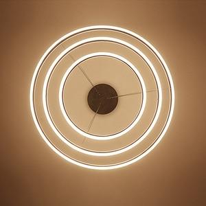 Image 4 - טבעות LED מודרני תליון אורות קבועה לחדר אוכל תליית מנורת בית מסעדה דקור השעיה חדר שינה Luminaire ברק