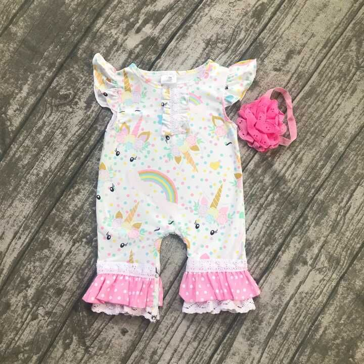 baby kids summer outfits infant toddler baby kids unicorn romper toddler girls rainbow with unicorn bubble romper clothing summer 2017 leopard baby girl clothes newborn infant baby girls romper bodysuit headband 2pcs outfits toddler kids clothing set