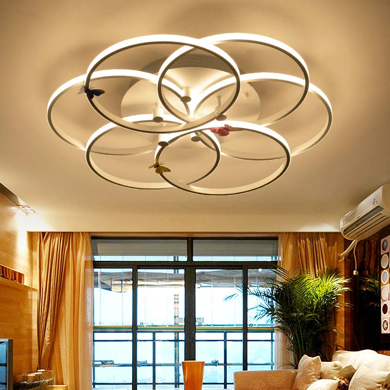 Buy Modern Led Ceiling Light Circle Style Acrylic Shade With Butterfly Kitchen