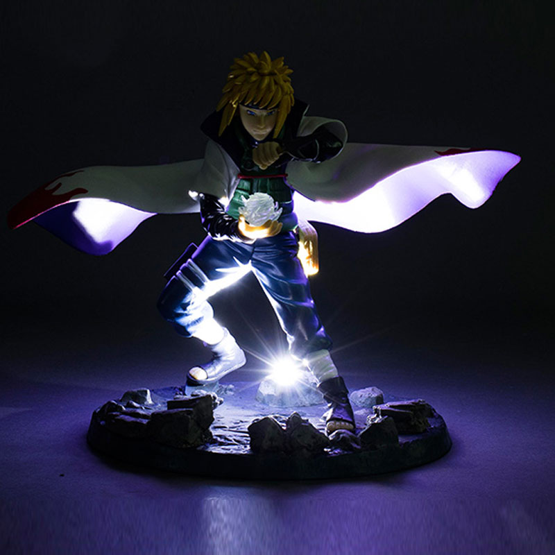 21cm Anime with falsh LED light Naruto Shippuden figure yondaime hokage Namikaze Minato PVC action figure model toy figurine