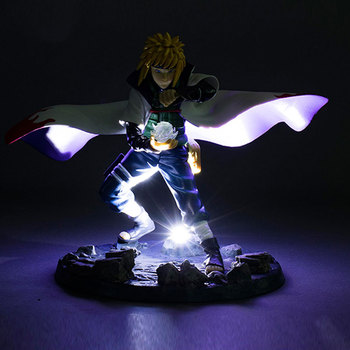 21cm Anime with falsh LED light Naruto Shippuden figure yondaime hokage Namikaze Minato PVC action figure model toy figurine